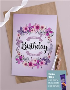 cards: Personalised Happy Birthday Floral Card!