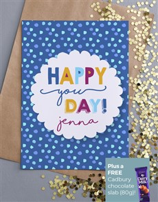 cards: Personalised Happy You Day Card!
