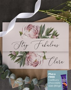 cards: Personalised Stay Fabulous Floral Card!
