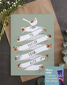 cards: Personalised To And From Card!