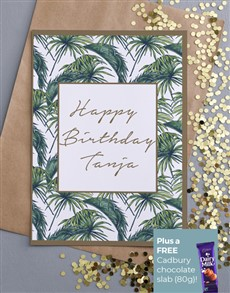 cards: Personalised Palm Tree Happy Birthday Card!