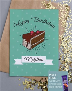 cards: Personalised Cake Happy Birthday Card!