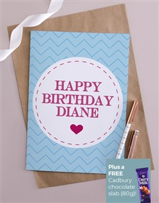 cards: Personalised Cute Happy Birthday Card!