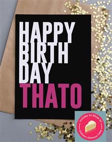 cards: Personalised Pop Pink Birthday Card!