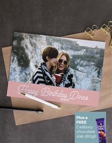 cards: Personalised Pink Photo Birthday Card!