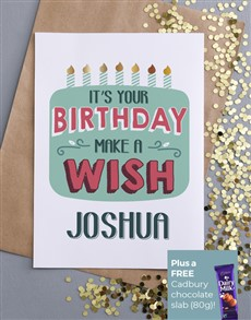 cards: Personalised Make A Wish Birthday Card!
