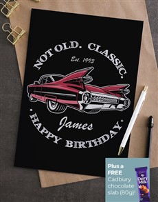 cards: Personalised Classic Cadillac Birthday Card !