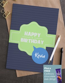 cards: Personalised Ribbon Birthday Card!