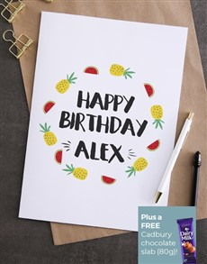 cards: Personalised Fruity Birthday Card!