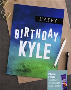 cards: Personalised Water Colour Birthday Card!