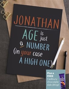 cards: Personalised Age Is A Number Card!