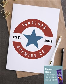 cards: Personalised Brewing Co Birthday Card!