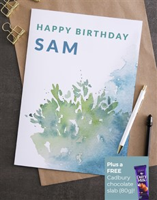 cards: Personalised Watercolour Birthday Card!