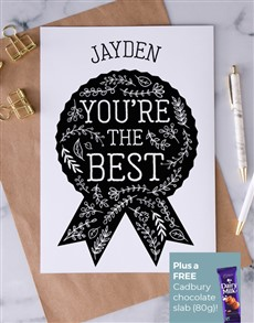 cards: Personalised Youre The Best Card!