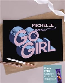 cards: Personalised You Go Girl Card!