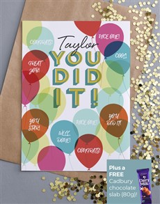cards: Personalised You Did It Card!