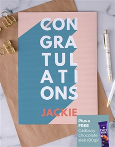 cards: Personalised Pastel Congratulations Card!