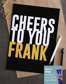 cards: Personalised Cheers To You Card!