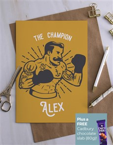 cards: Personalised The Champion Card!