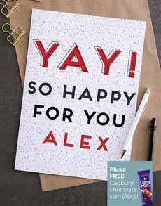 cards: Personalised So Happy For You Card!