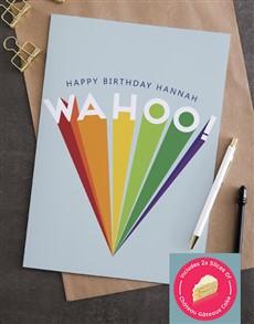 cards: Personalised Wahoo Rainbow Card!