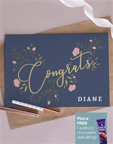 cards: Personalised Floral Congrats Card!
