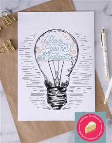 cards: Personalised Brilliant Lightbulb Card!