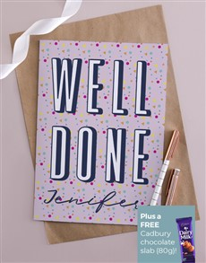 cards: Personalised Dotty Well Done Card!