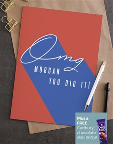 cards: Personalised OMG You Did It Card!