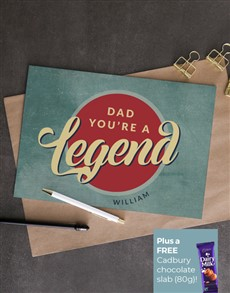 cards: Personalised Legendary Dad Card!