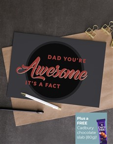 cards: Personalised Dads Awesome Card!