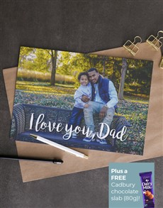 cards: Personalised Love You Dad Photo Card!