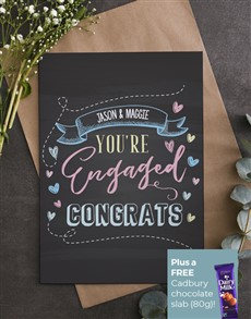 cards: Personalised Chalkboard Engagement Card!