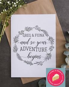 cards: Personalised Adventure Begins Engagement Card!