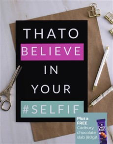 cards: Personalised Believe In Yourself Card!