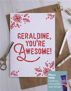 cards: Personalised You Are Awesome Card!