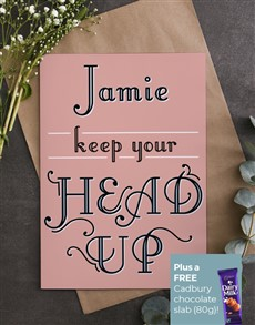 cards: Personalised Keep Your Head Up Card!