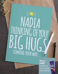 cards: Personalised Thinking Of You Big Hugs Card!