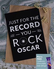 cards: Personalised You Rock Card!