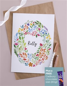cards: Personalised Colourful Floral Card!