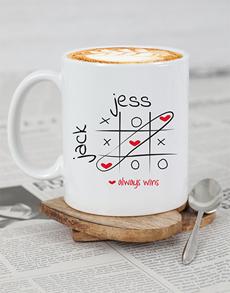 gifts: Personalised Love Always Wins Mug!