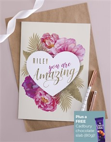cards: Personalised Floral Heart Amazing Card!