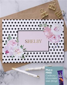gifts: Personalised Spotty And Flower Card!