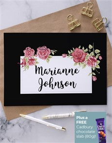 gifts: Personalised Rose Garden Greeting Card!