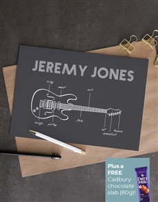 cards: Personalised Electric Guitar Card!