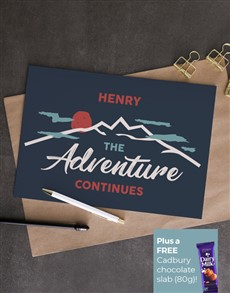 cards: Personalised Adventure Continues Card!
