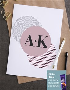 cards: Personalised In Circles Greeting Card!