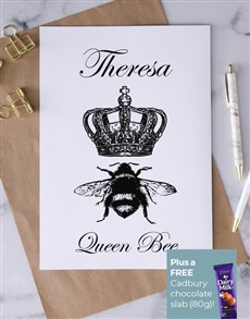 cards: Personalised Queen Bee Card!