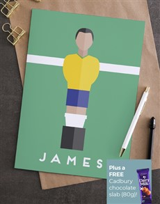 cards: Personalised Football Player Card!