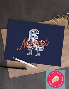 cards: Personalised Dinosaur Greeting Card!